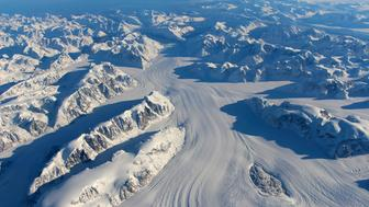 Heimdal Glacier in southern Greenland is seen in a NASA image captured by Langley Research Center's Falcon 20 aircraft October 13, 2015 and released November 24, 2015.  NASA's Operation IceBridge North is an airborne survey of polar ice aimed at learning how much snow and ice disappeared over the summer, according to a NASA news release.   REUTERS/NASA/John Sonntag/Handout via Reuters   THIS IMAGE HAS BEEN SUPPLIED BY A THIRD PARTY. IT IS DISTRIBUTED, EXACTLY AS RECEIVED BY REUTERS, AS A SERVICE TO CLIENTS. FOR EDITORIAL USE ONLY. NOT FOR SALE FOR MARKETING OR ADVERTISING CAMPAIGNS