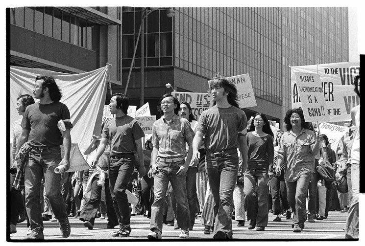 An anti-war march in 1972.