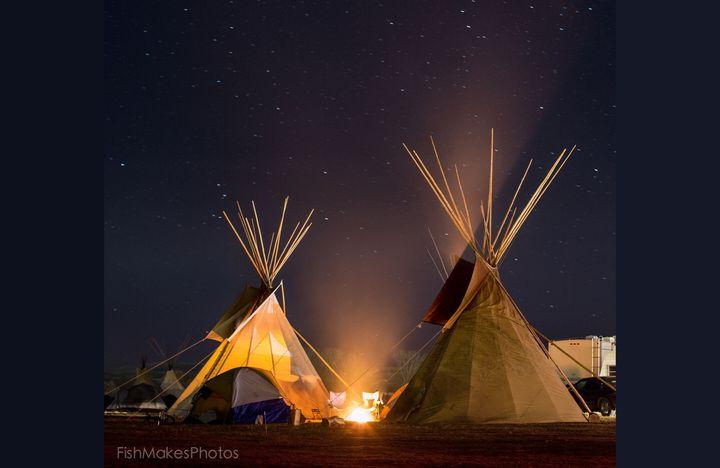 Endless Galaxies of Stars Overlook Camp Standing Rock