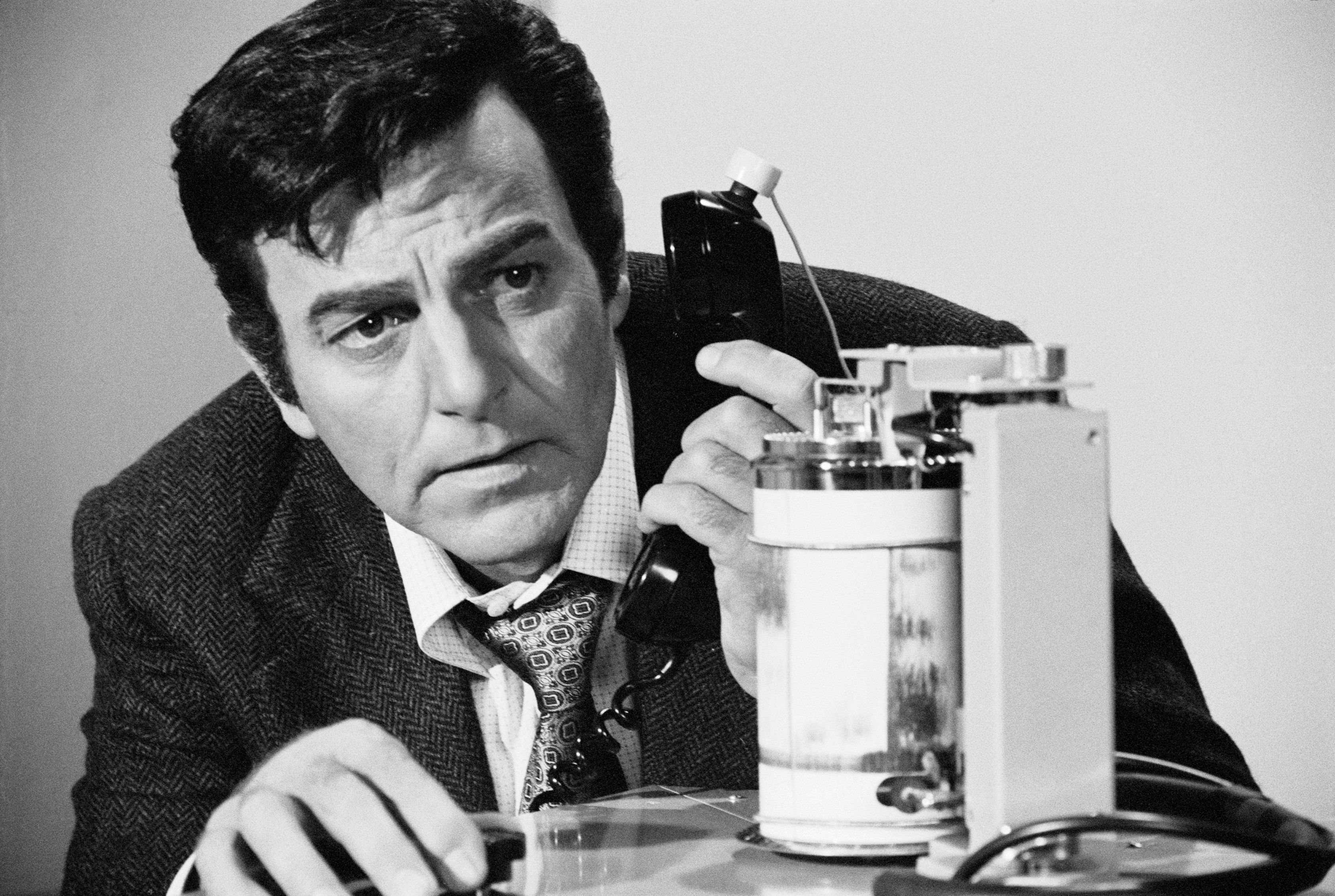 """Mike Connors found stardom on television playing the title role in the popular, long-running private eye series """"Mannix"""
