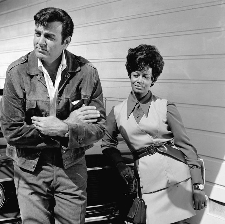 "Gail Fisher, right, was the first black woman to win an Emmy Award for her portrayal of Peggy Fair on the TV show ""Mannix."""