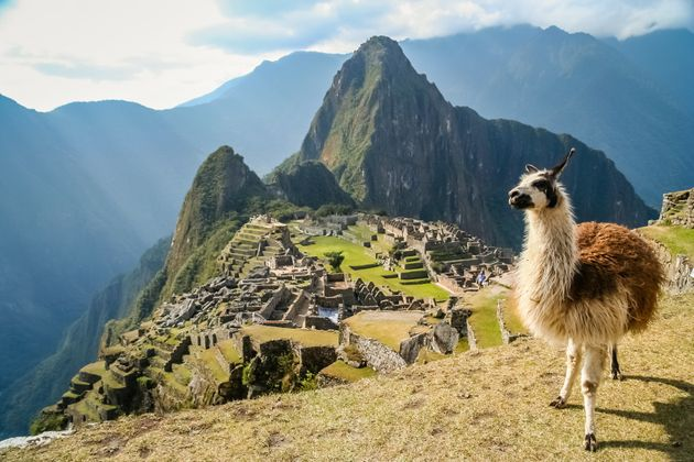 A luxury cruise company is offering a £46,000 round the world gap year trip; Machu Picchu is pictured