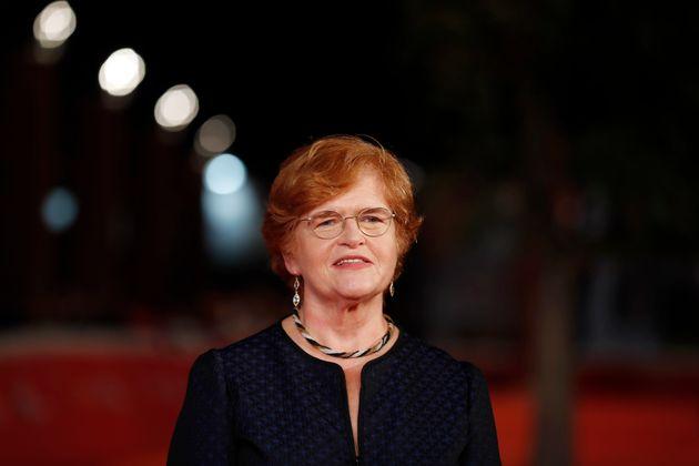 Deborah Lipstadt poses on the red carpet atthe screening of Denial at the Rome Film festival in...