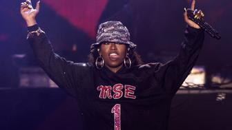 NEWPORT, ISLE OF WIGHT - SEPTEMBER 13:  Missy Elliot performs on day 4 of Bestival at Robin Hill Country Park on September 13, 2015 in Newport, Isle of Wight.  (Photo by Joseph Okpako/Getty Images,)