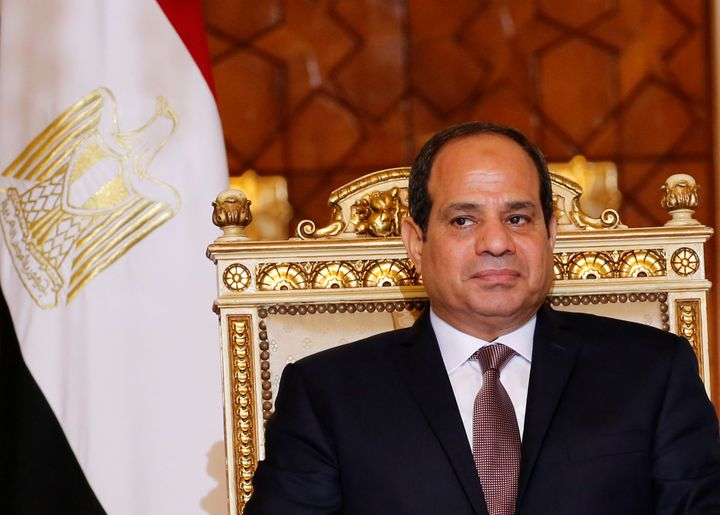 Egyptian President Abdel Fattah el-Sisi is pictured in Cairo, Egypt.