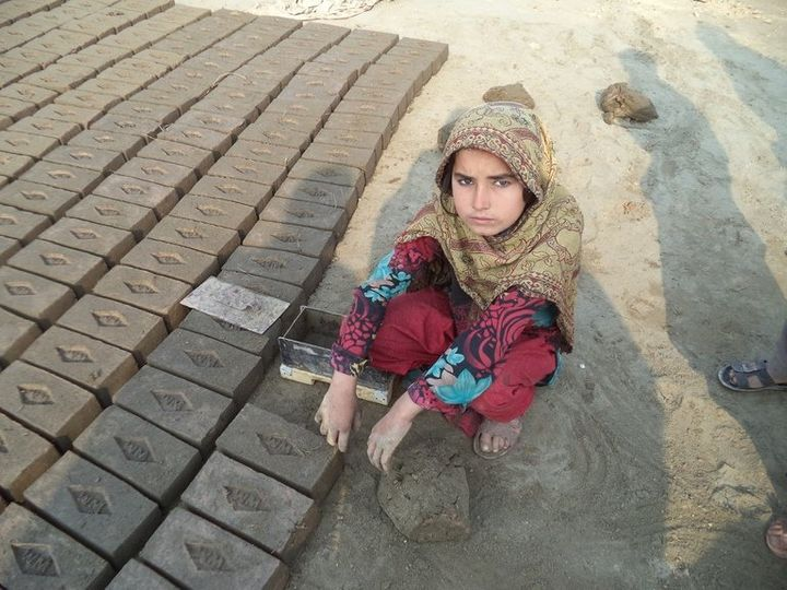 Yasmeen, 9, worries that her younger siblings will also be forced to work at the brick kiln she's been working at for t