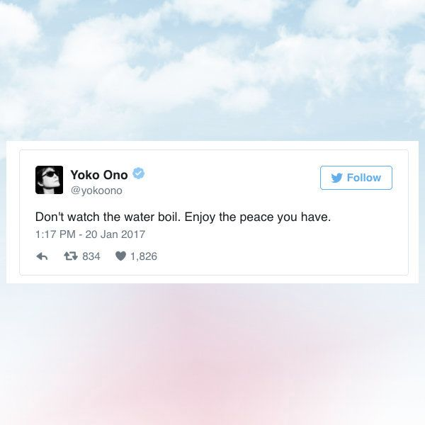 Yoko onos twitter account is the holy scripture of self care huffpost huffington post via twitter malvernweather Images