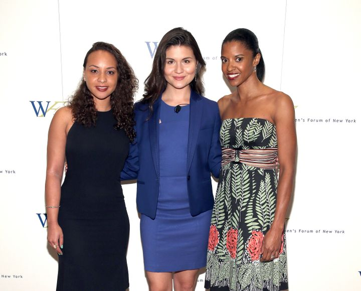 Jasmine Cephas Jones, Phillipa Soo and Renee Elise Goldsberry, shown here left to right, will perform together at Super Bowl