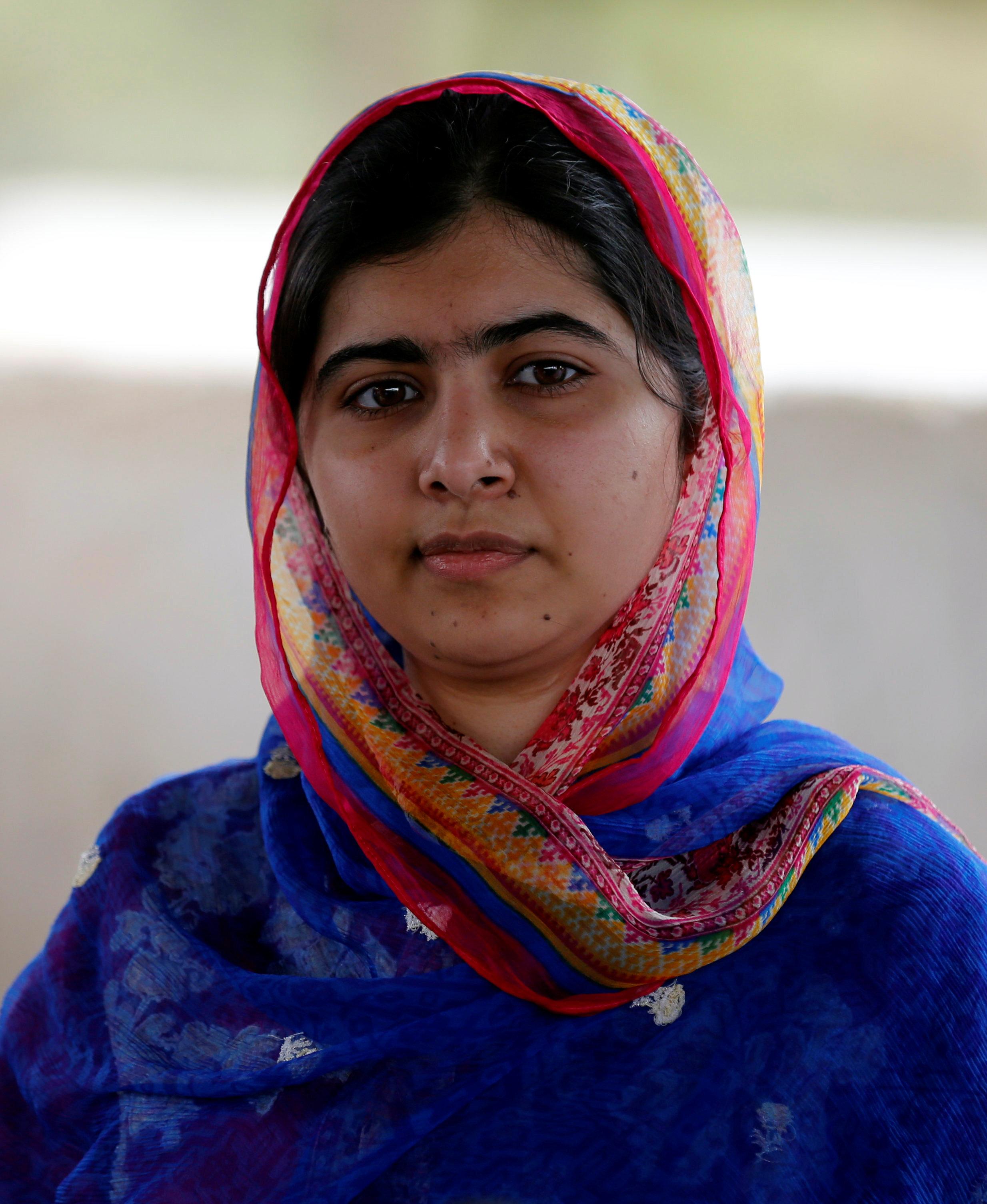 Malala Yousafzai on her 19th birthday, at a refugee camp near the Kenya-Somalia