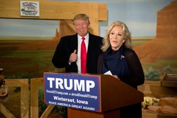 Aissa Wayne, daughter of movie icon John Wayne, has thrown her support behind Trump's presidential bid. She made theend