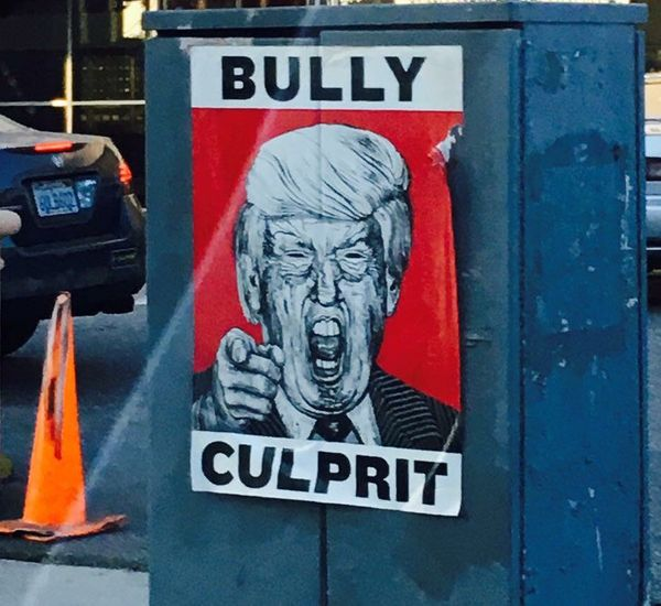Artist: Robbie Conal<br>Location: Erica Macaranas spotted this poster in Los Angeles in summer 2016