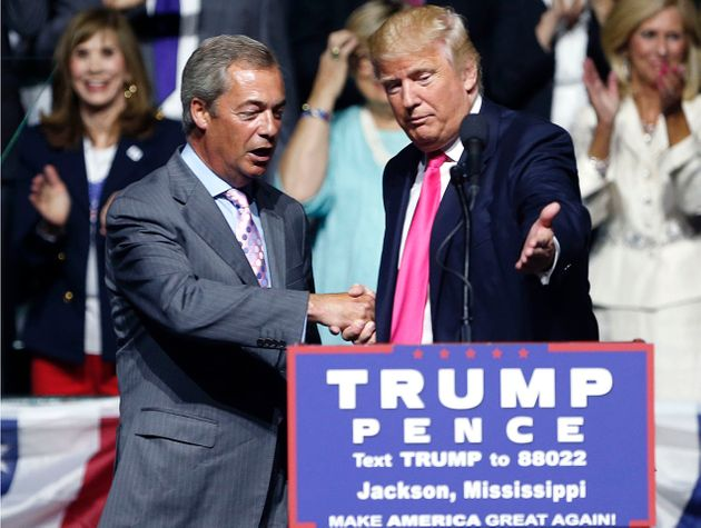 Nigel Farage with Donald Trump on the campaign