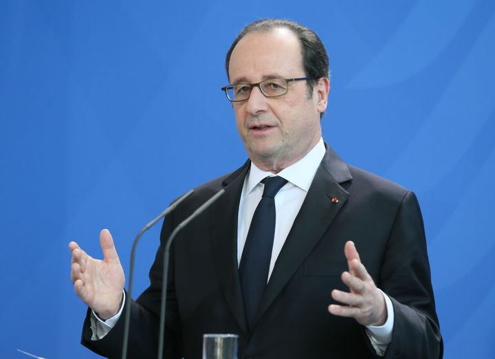 French President Francois Hollande speaks to the media on Jan. 27.