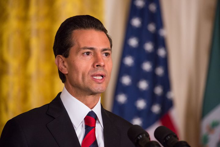 Mexican President Enrique Peña Nieto speaks in Washington on July 22, 2016.