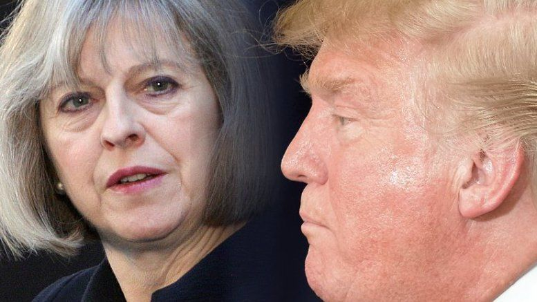 British Prime Minister Theresa May and President Trump