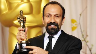 HOLLYWOOD, CA - FEBRUARY 26:  Filmmaker Asghar Farhadi, winner of the Best Foreign Film Award for 'A Separation,' poses in the press room at the 84th Annual Academy Awards held at the Hollywood & Highland Center on February 26, 2012 in Hollywood, California.  (Photo by Jason Merritt/Getty Images)