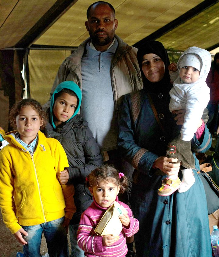 Khaled Basheer, his wife and their four children fled Syria after their home was bombed.