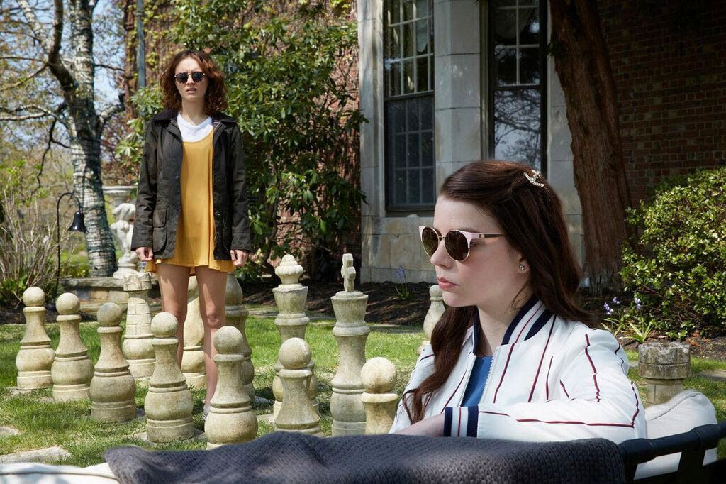 "Olivia Cooke and Anya Taylor-Joy in ""Thoroughbreds."""
