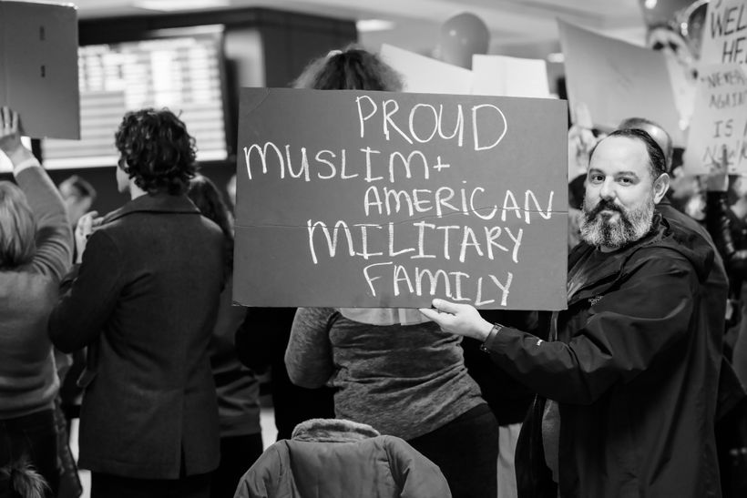 Proud Muslim and American Military Family