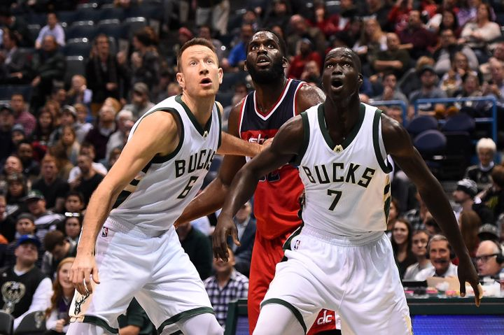 Milwaukee Bucks forward Thon Maker (7), born in South Sudan, is among the athletes who could feel the impact of Trump's