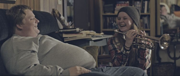 Tom (Merrick Robison) and Rebecca (Madysen Frances) share a laugh in a scene from<strong><em>Empty Space</em></strong>