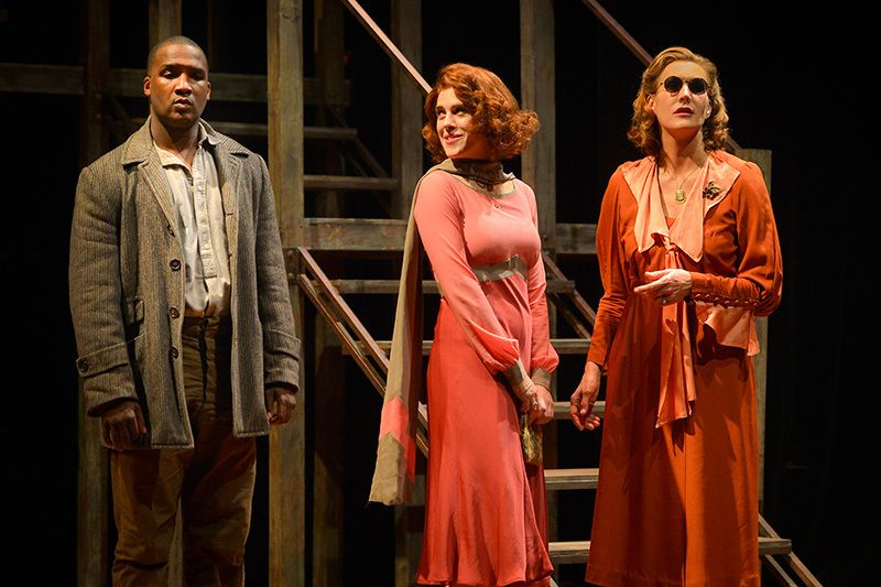 Jerod Haynes, Rosie Hallett, and Courtney Walsh in a scene from <strong><em>Native Son</em></strong>
