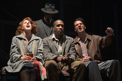 Rosie Hallet, Jerod Haynes, and Adam Magill in a scene from <em><strong>Native Son</strong></em>