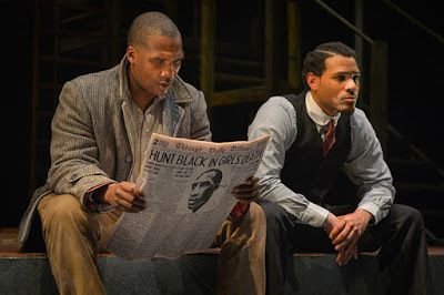 Jerod Haynes (Bigger Thomas) and William Hartfield (The Black Rat) in a scene from <strong><em>Native Son</em></strong>