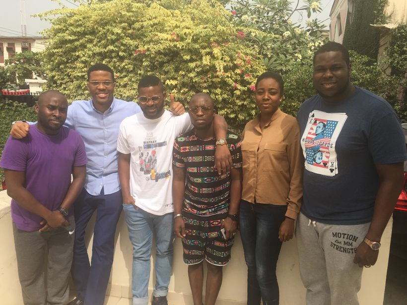 L-R: Femi, Daniel, Falz, Sidney, Olamide and Shody. A team of friends, they will holiday in Zanzibar this January.