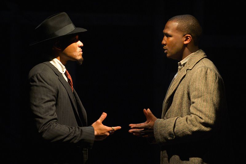 William Hartfield (The Black Rat) and Jerod Haynes (Bigger Thomas) in a scene from <strong><em>Native Son</em></strong>