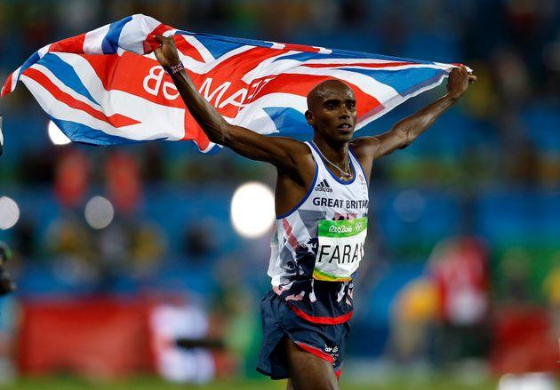 Sir Mo Farah winning his second 10,000m final in