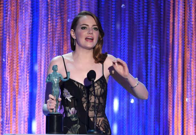 Emma Stone says she's going to faint during endearing SAG Awards speech