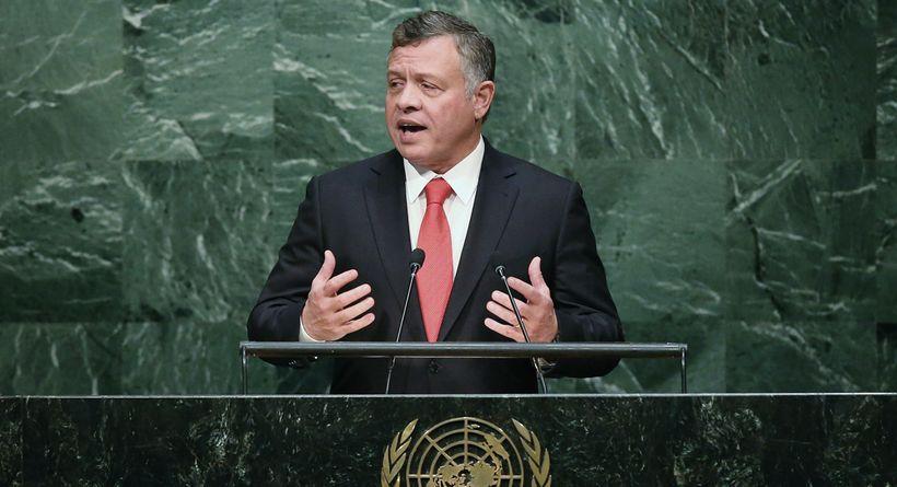 King of Jordan Abdullah II bin al-Hussein addresses the United Nations General Assembly at UN headquarters, September 20, 201