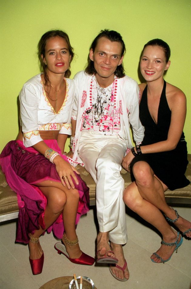 Long-time pals Jade Jagger, Matthew Williamson and Kate Moss at a party held at the St. Martin's Lane...