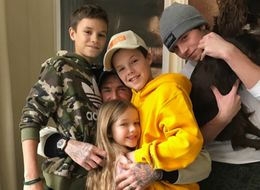 This Photo Of David Beckham Hugging His Kids Is The Definition Of Family Goals