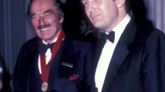 NEW YORK CITY - MAY 10:  Fred Trump and Donald Trump attend 38th Annual Horatio Alger Awards Dinner on May 10, 1985 at the Waldorf Hotel in New York City. (Photo by Ron Galella/WireImage)