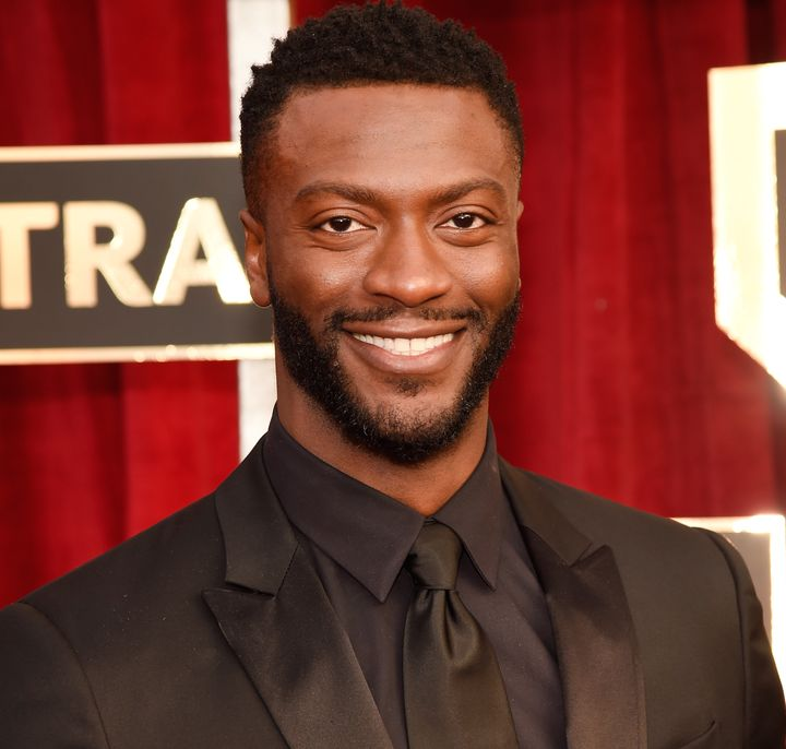 Aldis Hodge at the SAG Awards on Sunday.