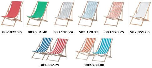 A photo of all of the chairs that are being recalled.