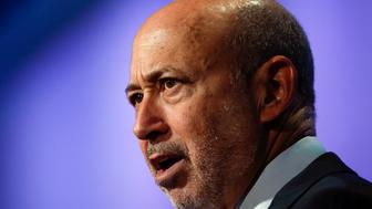 "Goldman Sachs Group, Inc. Chairman and Chief Executive Officer Lloyd Blankfein speaks during the plenary session titled ""Equality for Girls and Women: 2034 Instead of 2134?"" at the Clinton Global Initiative 2014 (CGI) in New York, September 24, 2014. The CGI was created by former U.S. President Bill Clinton in 2005 to gather global leaders to discuss solutions to the world's problems. REUTERS/Shannon Stapleton (UNITED STATES - Tags: POLITICS BUSINESS HEADSHOT)"