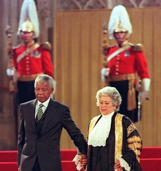 Nelson Mandela in Westminster Hall in
