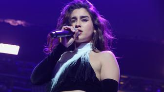 WASHINGTON, DC - DECEMBER 12:  Lauren Jauregui of Fifth Harmony performs at Hot 99.5's Jingle Ball 2016 at Verizon Center on December 12, 2016 in Washington, DC.  (Photo by Teresa Kroeger/FilmMagic)