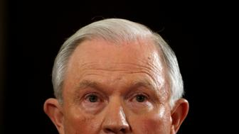 U.S. Sen. Jeff Sessions (R-AL) testifies at a Senate Judiciary Committee confirmation hearing for Sessions to become U.S. attorney general on Capitol Hill in Washington, U.S.  January 10, 2017. REUTERS/Kevin Lamarque