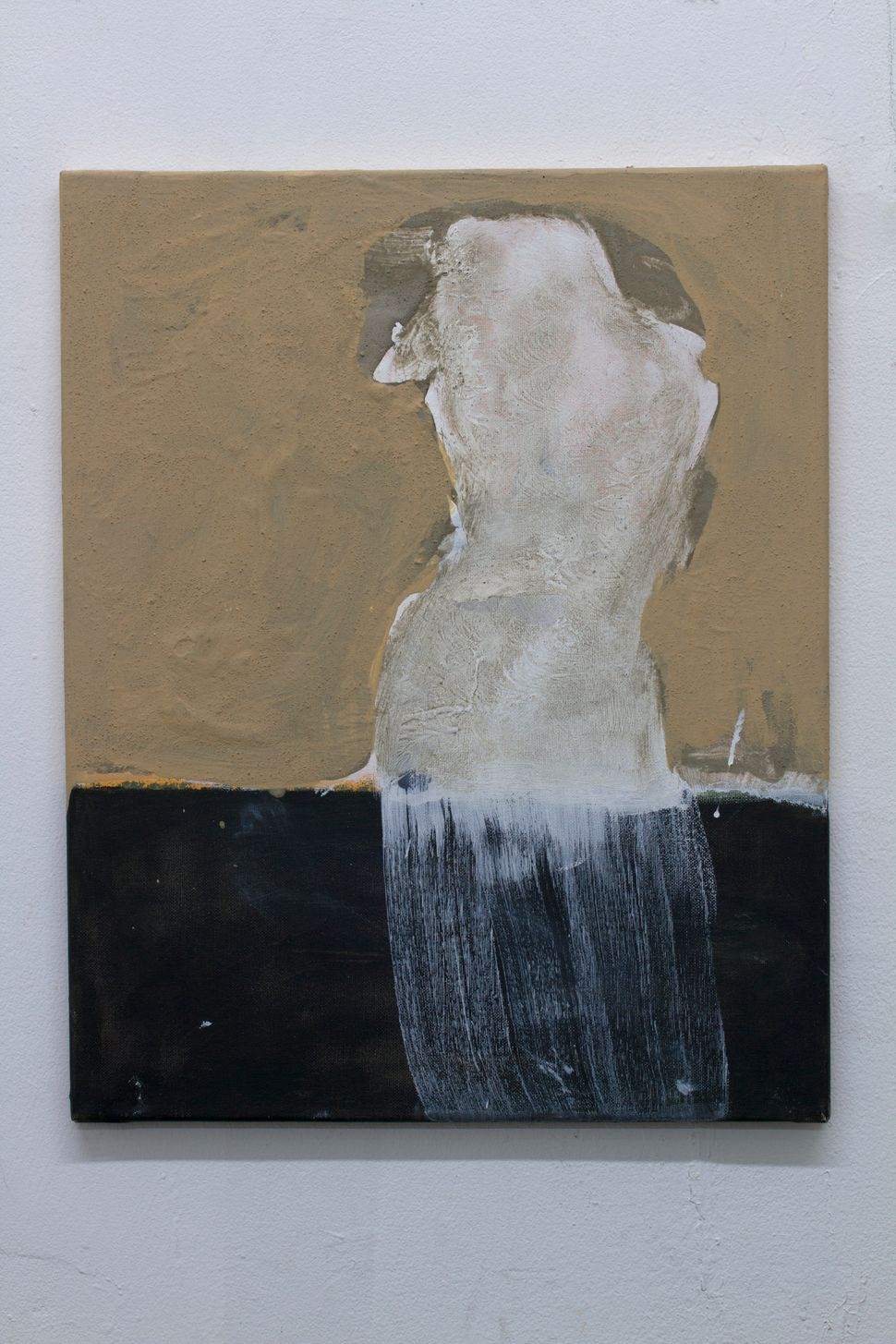 "Kamran Taherimoghaddam. ""La Statua Perduta"" (2013), acrylic on canvas, 20""x16""."