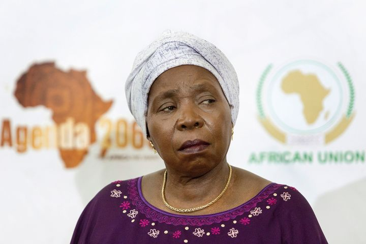 South African politician and chairperson of the AU commission Nkosazana Dlamini-Zuma spoke out against Trump's visa ban for i