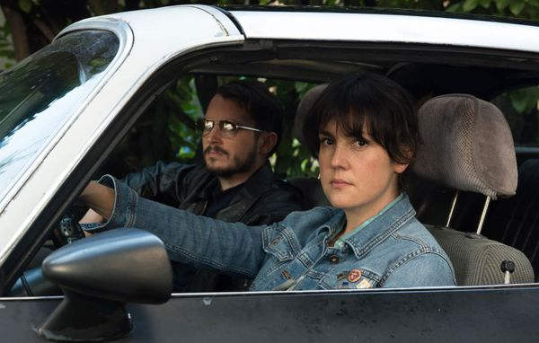 "Meet your new favorite buddy duo: angry Melanie Lynskey and weird Elijah Wood. In ""Green Room"" actor Macon Blair's directoria"