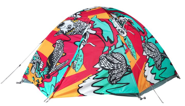 You'll always be able to find your tent with this loud print!