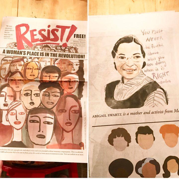 Abigail Gray Swartz's work for Resist.