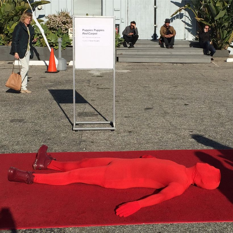 Puppies Puppies 2017, <em>Red Carpet</em>, performance at Art Los Angeles Contemporary