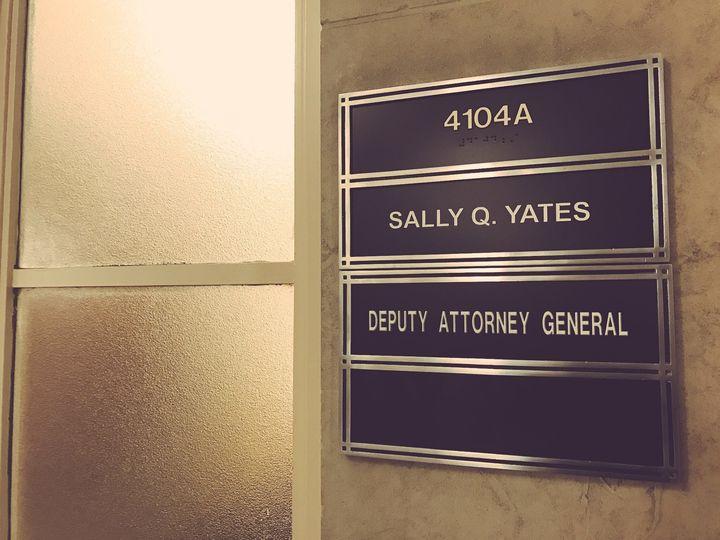 Yates' office on Monday evening.
