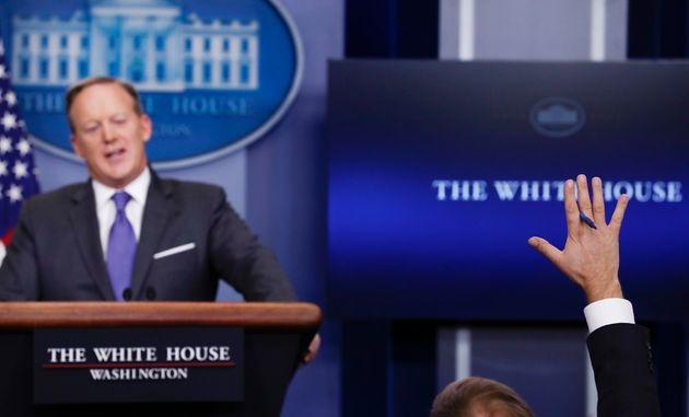 Sean Spicer did not comment on Obama's statement during his Monday evening press